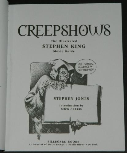 Creepshows Stephen King Movie Guidesoft cover 2002Title page