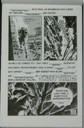 bleepers No.3Swamp thing spoof