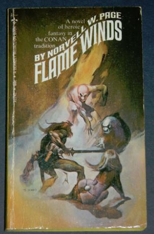 Flame Winds1969 paperback cover painted by Jeffrey Jones