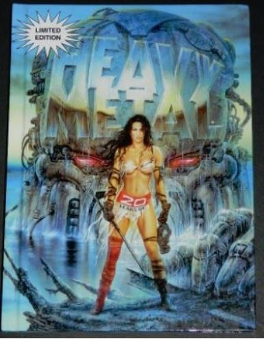20 Years of Heavy Metal1997 hard cover3pgs. of illustrations