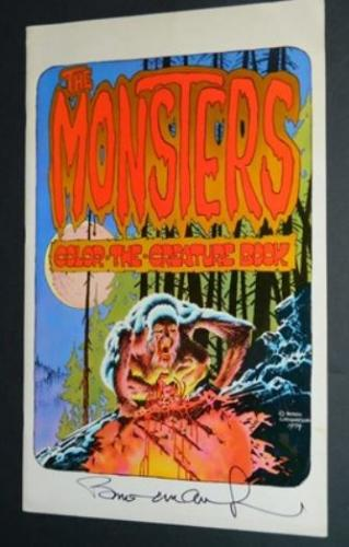 The Monsters Color the Creature Book1974 Phil SeulingSigned