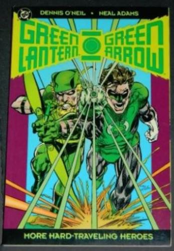 "Green Lantern Green Arrow More Hard Traveling Heroes1993 DCsoft cover""Peril in Plastic"""
