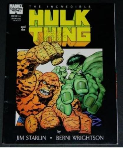 Hulk and the Thing1987 Marvelsoft cover