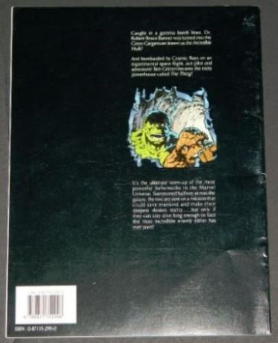 Hulk and the ThingDifferent back cover