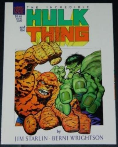Hulk and the Thing1987 Marvelsoft cover - white