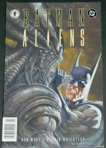 Batman Aliens #24/97 Cover, story art