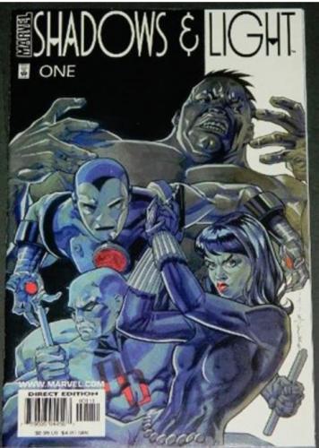 Shadows & Light2/98 Hulk 8pg. B&W story