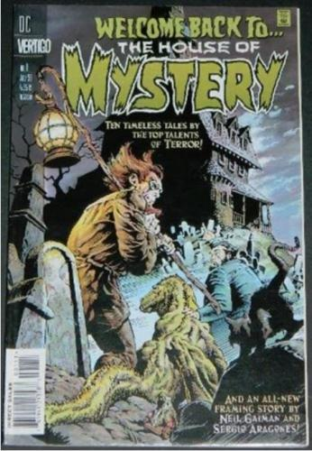 "Welcome Back to the House of Mystery #17/98 Cover, inside cover, ""The Gourmat"", ""The Secret of the Egyptian Cat"", ""Molded in Evil"""
