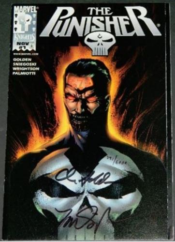 The Punisher Vol.2 #1Alternate Cover signed by Christopher Golden & Tom Sniegoski #381/600