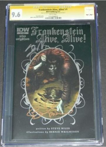 Frankenstein Alive,Alive #1CGC 9.6 Signature Series Wrightson/Niles