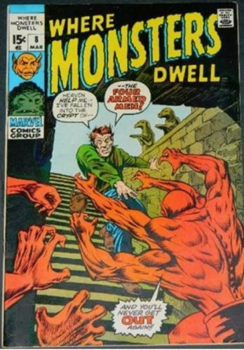 Where Monsters Dwell #83/71 Cover inks on Marie Severin
