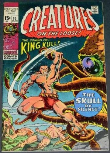 "Creatures on the Loose #103/71 Cover, ""The Skull of Silence"""