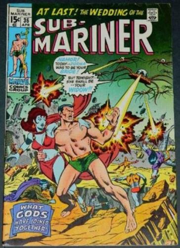 """Sub-Mariner #364/71 """"What the Gods Have Joined Together"""" inks on Sal Buscema"""