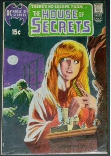"House of Secrets #927/71 Cover, Title page, ""Swamp Thing""Signed by Wrightson/Wein"