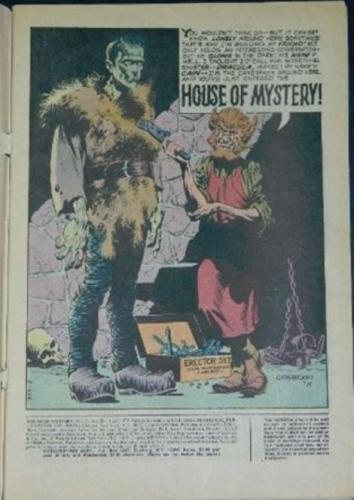 House of Mystery #201Title page
