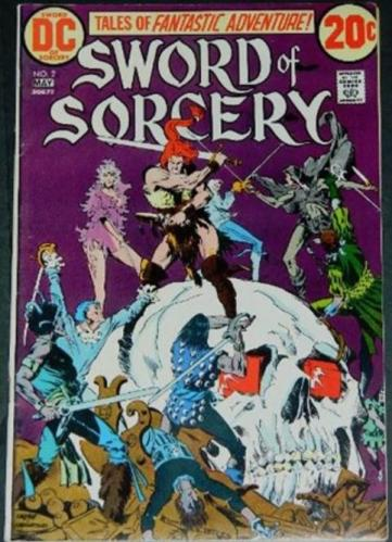 Sword of Sorcery #25/73 Cover inks, Partial inks on story art