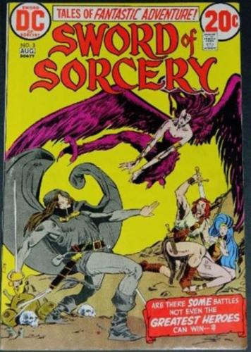 Sword of Sorcery #38/73 Cover inks, Partial inks on story art