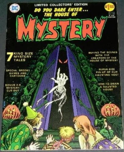 "House of Mystery #23/C231973 ""Secret of the Egyptian Cat""centerfold"