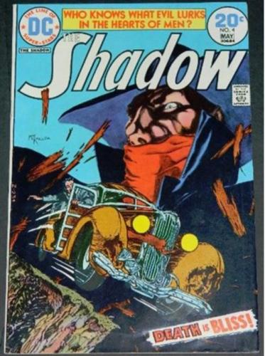 """The Shadow #45/74 """"Death is Bliss"""" partial inks"""