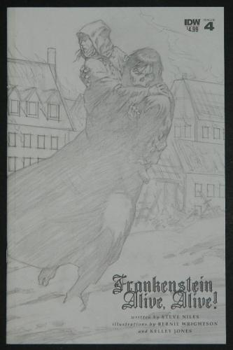 Frankenstein Alive,Alive #4 - sketch cover