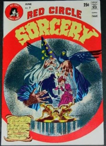 Red Circle Sorcery #76/74 Partial inks on Bruce Jones pencils