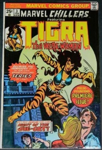 Marvel Chillers Tigra #32/75 Cover inks on Gil Kane
