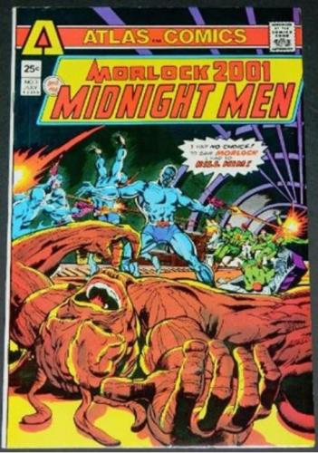 "Morlock 2001 Midnight Men #37/75 ""Then Cam the Midnight Men"" inks on Ditko"