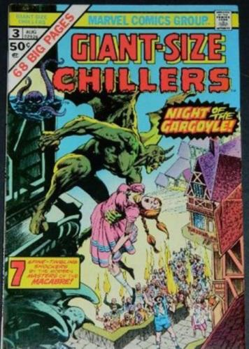 "Giant-Size Chillers #38/75 Cover Inks, Ed Hannigan pencils,""Gargoyle Every Night"" Chamber of Darkness #7"