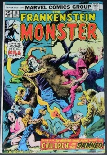 The Frankenstein Monster #189/75 Cover inks on Val Mayerick