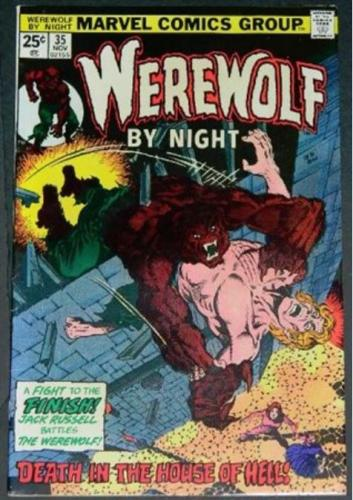 Werewolf by Night #3511/75 Cover inks on Jim Starlin