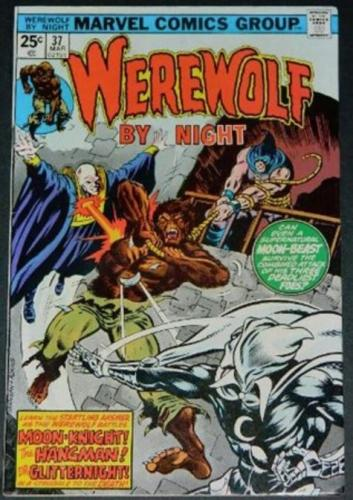 Werewolf by Night #363/76 Partial cover inks on Ed Hannigan