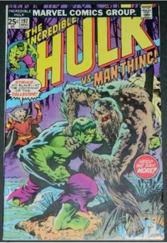 Hulk vs Man-Thing #1973/76 Cover