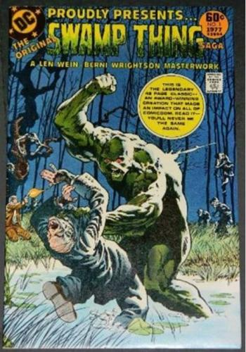 Swamp Thing Saga #11977 Wrap around cover. reprints #1 &2