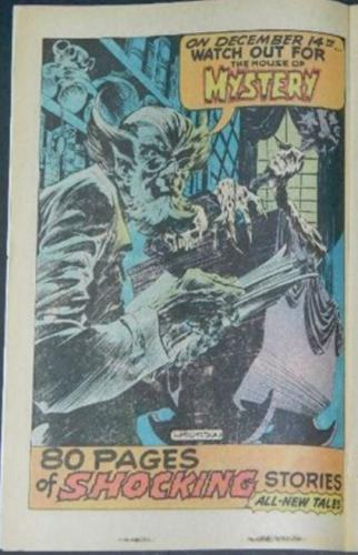 House of Mystery #250Ad from HOM 209