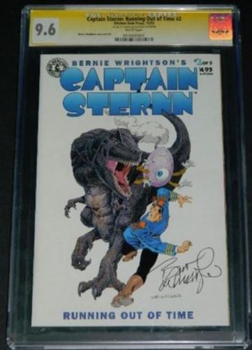 Captain Sternn #212/93 CGC Signature 9.6Cover, story art
