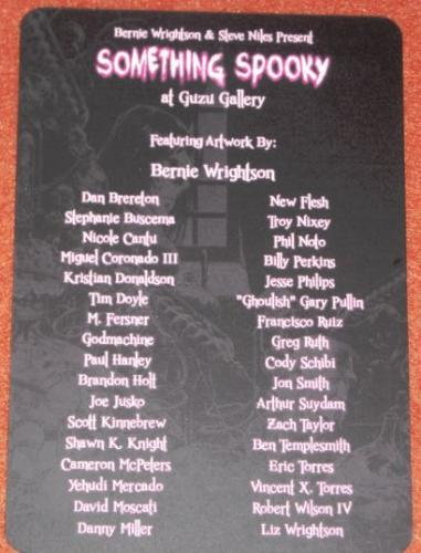 Something Spooky10/2013 postcard - back