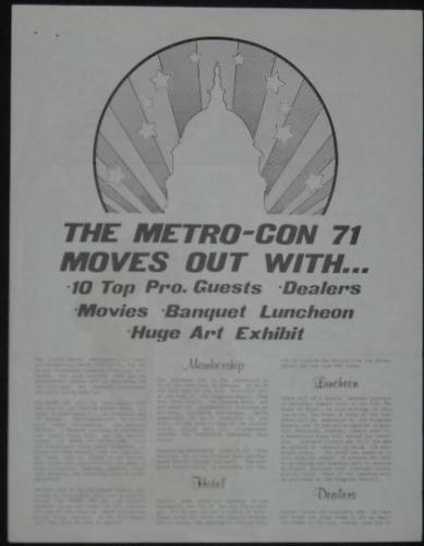 Metro-Con 71Flyer Ad