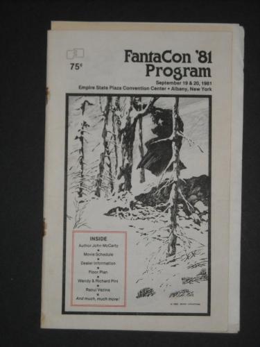 FantaCon Program1981 Albany, NY - cover