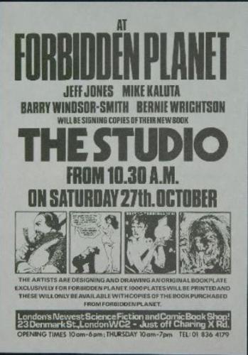 """U.K. Studio signing81/2""""x6"""" flyer"""