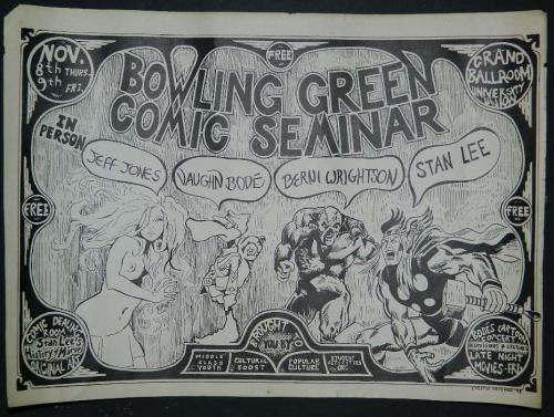 Bowling Green Comic Seminar - flyer