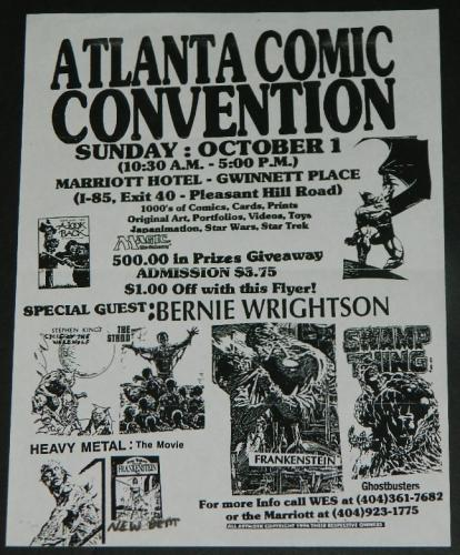 Atlanta Comic Con Flyer1990