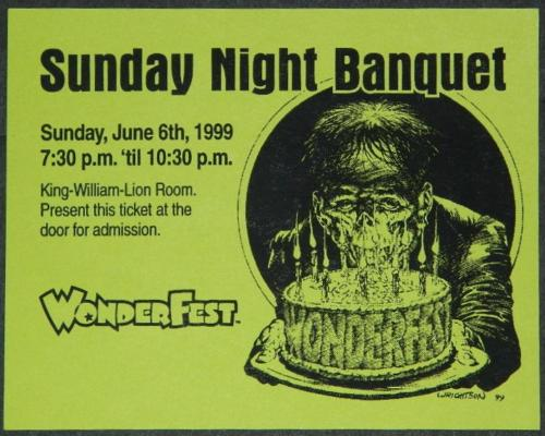 "WonderFest Banquet 19994""x5"" invite card"