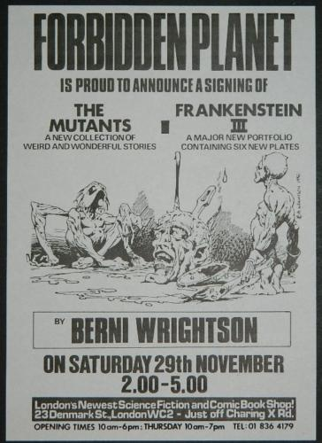 "U.K. Mutants signing81/2""x6"" flyer"