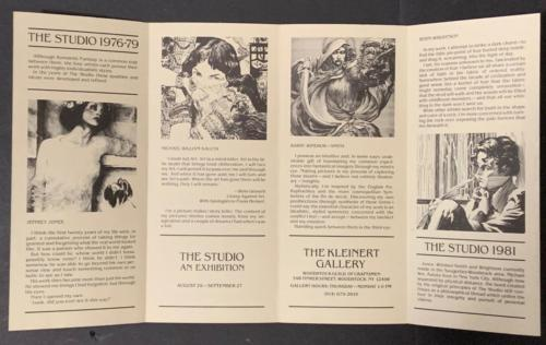 1981 Kleinert Gallery Studio exhibition brochure