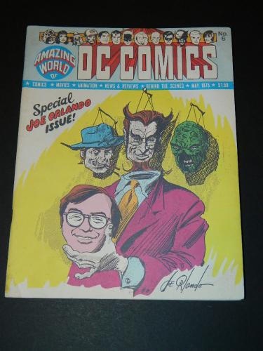 Amazing World of DC Comics #6May 1975 inside front cover