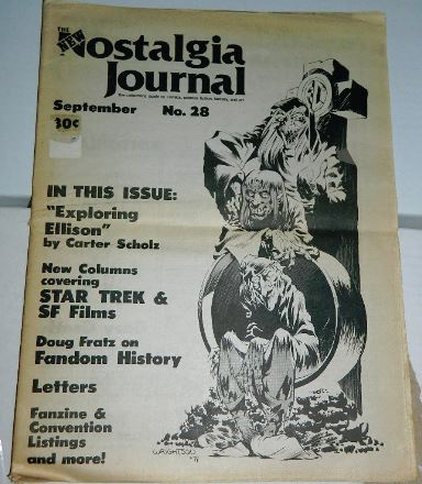 Nostalgia Journal #28Sep.1976 cover and ad