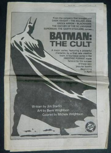 Comic Book Buyers GuideMay 20,1988  Cult ad