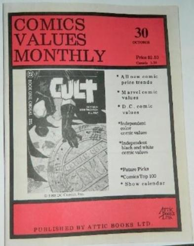 Comic Values Monthly #301988 cover