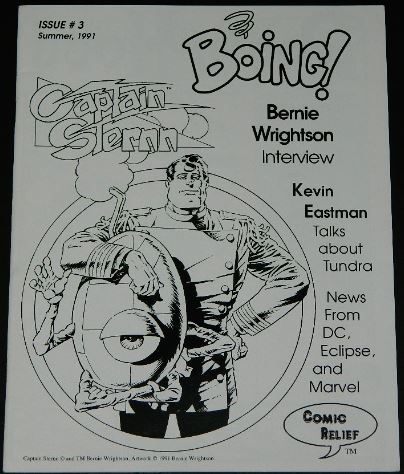 Boing #31991 Comic Relief3 pg. interview w/ illustrations