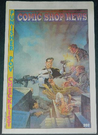 Comic Shop News5/8/91 cover, article